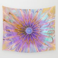 fairies Wall Tapestries featuring Flower of Fairies by Klara Acel