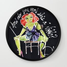 How do you know she's a Witch? Wall Clock