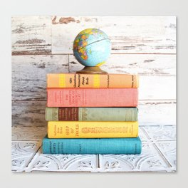 Candy Colored Stack of Books Canvas Print
