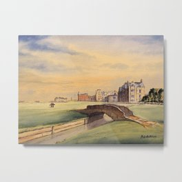 St Andrews Golf Course Scotland 18th Hole Metal Print