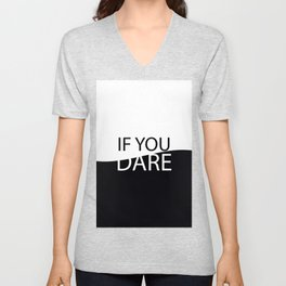 If you dare Unisex V-Neck