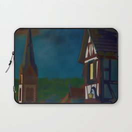 Black Forest Travel Poster Germany Laptop Sleeve