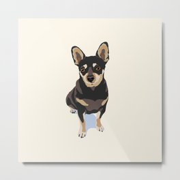 Mr. Mouse the Chihuahua Dog Metal Print