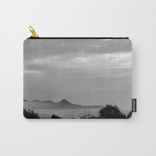 Violent Shores in Black and White Carry-All Pouch
