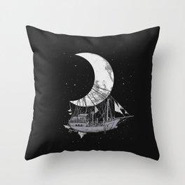 Moon Ship Throw Pillow