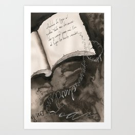 Flying Letters  Art Print