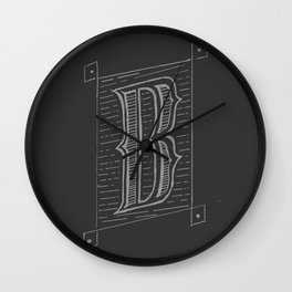 The Letter B Wall Clock