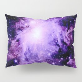 Orion nebUla. : Purple Galaxy Pillow Sham