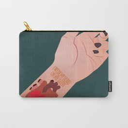 I Wear My Heart On My Sleeve Carry-All Pouch