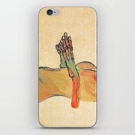 Egon Schiele - Orange knuckles and nipples (new color edit) iPhone Skin