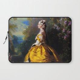 Eugénie de Montijo, oil on canvas by Franz Winterhalter Laptop Sleeve