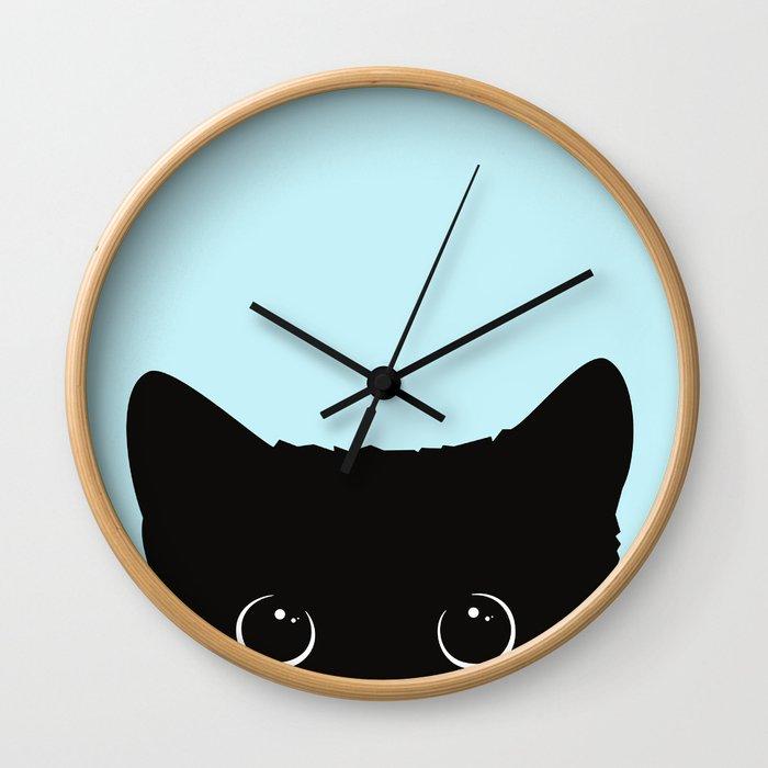 Black cat I Wall Clock