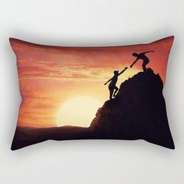 two friends teamwork Rectangular Pillow