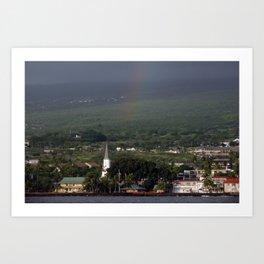 Rainbow over Kona Art Print