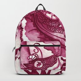 Dragon´s Visit - Burundy Backpack