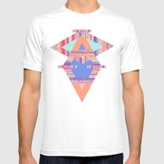 TRIBAL CRAYON / White Mens Fitted Tee MEDIUM
