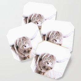 HIGHLAND CATTLE PORTRAIT Coaster
