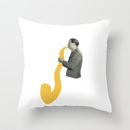 Saxy Throw Pillow