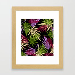 Jungle Black Framed Art Print