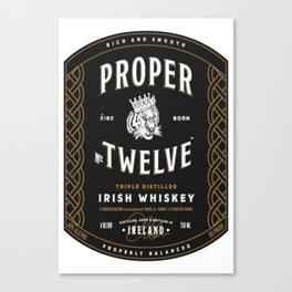 Proper Twelve Irish Whiskey Logo Canvas Print
