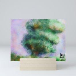 Leaning tree Mini Art Print