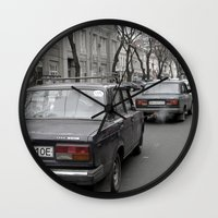 ukraine Wall Clocks featuring Odessa Ukraine by Sanchez Grande