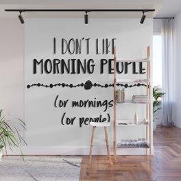 Mornings or People Wall Mural