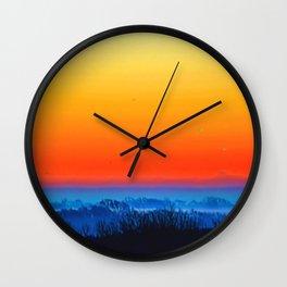 Saphire Sunset Wall Clock