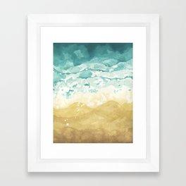Minimalist Shore - Beach Painting Framed Art Print