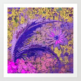 Palms Ferns and Flowers #1 Art Print
