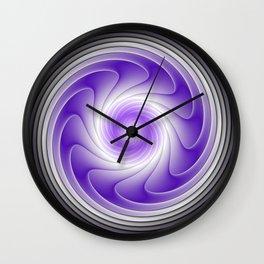 The Power Of Purple, Modern Fractal Art Graphic Wall Clock