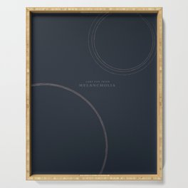 Melancholia, Lars von Trier, minimal movie poster, Danish film Serving Tray
