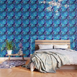 Blue Nautilus Shell  - Seashell Art By Sharon Cummings Wallpaper
