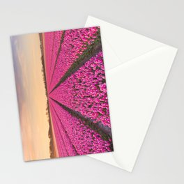 Tulip fields at sunrise Stationery Cards