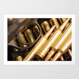 Rifle Trigger and Bullets Art Print
