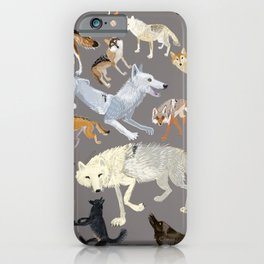 Wolves of the World Grey iPhone Case