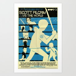 Scott Pilgrim Vs The World Art Print