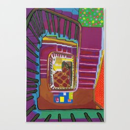 Stairs up to the Attic 1999 Canvas Print