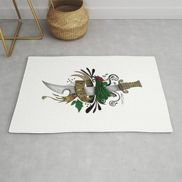 Symbolic Sword Rug