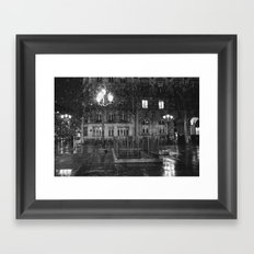 Paris road Framed Art Print