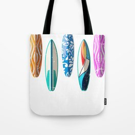Colorful Surfing Board Tote Bag