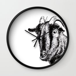 Interaction with goat Wall Clock