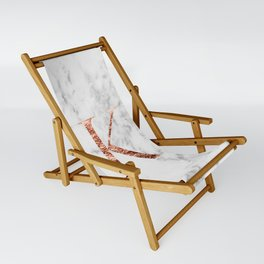 Monogram rose gold marble K Sling Chair