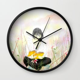 The reading girl Wall Clock