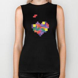 Tetris Love Biker Tank