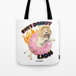 Fire Donut Lion Tote Bag