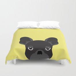 French bulldog banana yellow Duvet Cover