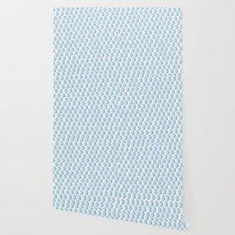 Light blue ombre hexagons, honeycomb texture Wallpaper