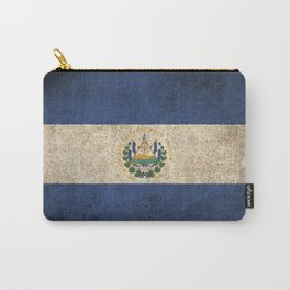 Old and Worn Distressed Vintage Flag of El Salvador Carry-All Pouch