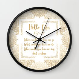 a course in miracles mandala frame Wall Clock